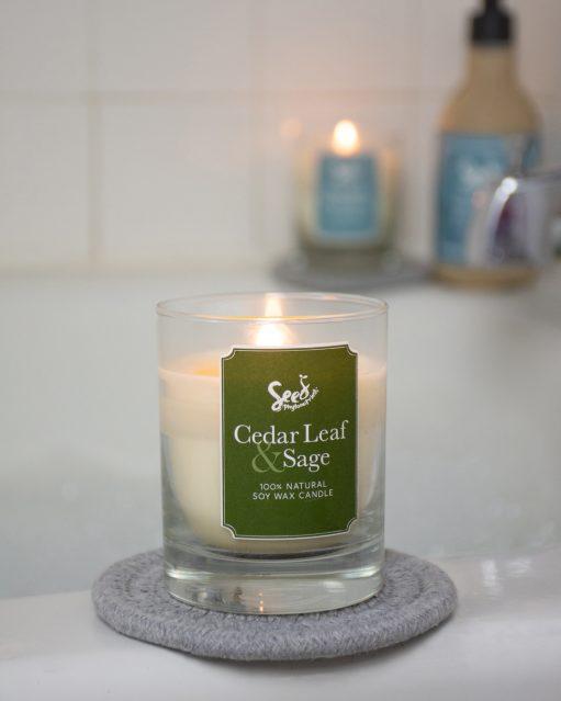 Cedar Leaf and Sage Soy Wax Candle