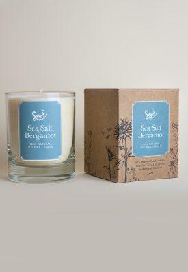 Sea Salt and Bergamot Soy Wax Candle
