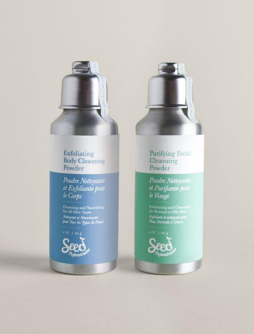Purifying Facial & Exfoliating Body Cleansing Powder Set