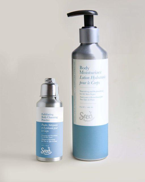 Exfoliating Body Cleansing Powder & Body Moisturizer Set